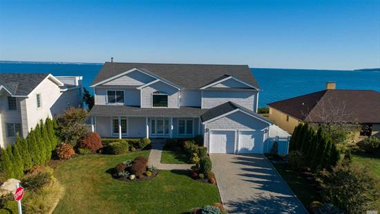 Gorgeous waterfront property with breathtaking views of Connecticut in the prestigious Oak Point community with private beach for residents only. House shows extremely well with the wow factor, fabulous entertaining rooms with a gracious open floor plan. Large floor to ceiling windows with spectacular views of the water. Enjoy the Lifestyle. No Flood Zone. $450 yearly HOA