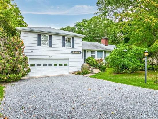 Great home located on beautiful Gillette street in South Bayport. This home sits on an Acre of property with loads of floral specimens. Expanded Living Includes 2 family rooms and large screened in porch. A BONUS to the soccer field backyard is the in-ground pool.