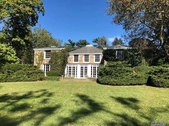 West Island Estate - Creek House - Fabulous Fieldstone Home on Private Gated Estate, Magnificent Water Views, Sunsets & Beach, Fine Woodwork, 5 Fireplaces & Spacious Entertaining Rooms. Terraced Inground Pool, Det Garage w/2 Room & Full Bath. Also Available for Summer 2020 @$20, 000 Per Month.