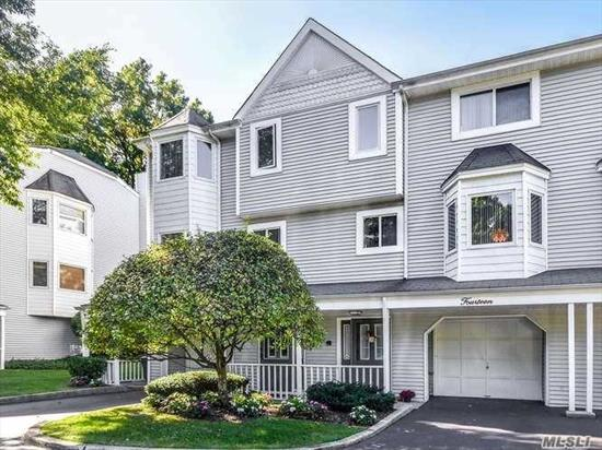 Tucked Away in a Private & Quiet Cul De Sac! Ef, Bdrm/Off, Laundry Rm & Storage, Full Bath. 2nd Floor; Lr w/Fpl & Sliders to Deck, Eik, Fdr, Powder Rm. 3rd Floor; Mstr Bdrm Suite w/Full Bath, Stall Shower & Tub, 2 WIC & Sliders to Deck with Winter Waterview, Addl Bdrm w/Full Bath & Walk in Closet. 1 Car Att Garage. Central vacuum. Alarm System. Shopping, Restaurants, Golf, Hospital & Train Station Just Minutes Away. All Exterior Maintenance Covered by HOA Including Leaf & Snow Removal.