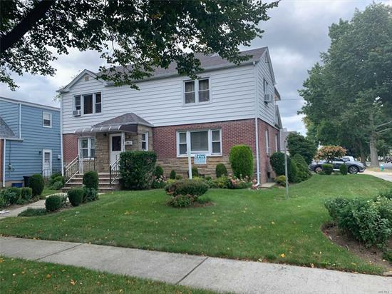 ONE OF A KIND HUMONGOUS TWO FAMILY HOUSE IN VILLAGE OF FLORAL PARK, BRICK, CLOSE TO ALL, LOT SIZE 60 BY 100, ALL ROOM SIZES ARE HUGE OVER SIZED, 2 CAR GARAGE, WIDE DRIVEWAY, NEW ROOF, STOOP, BOILER, CLOSE TO CITY TRANSPORTATION AND LIRR SERVICE, SHOW AND SELL OVERSIZED FINISHED BASEMENT.