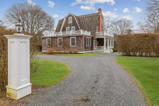 Estate Section Of Quogue.Comfortable Home With Great Entertaining Space Includes Living Room, Dining Room And Library All Lead To The Best Chef's Kitchen W/Huge Center Isle, 6 Burner Gas Stove, Wine Fridge, 2 Dishwashers, Cocktail Center. A Very Private Master Suite With It's Own Office Along With 3 Other Guest Rooms Assure Comfy Sleeping. Gunite Heated Pool, Pool House With Wet Bar And 1/2 Bath, Spacious Patio Is So Inviting For Those Summer Days.Quogue Beach And Only 90 Mins N Y C. 8/1-8/31Rental