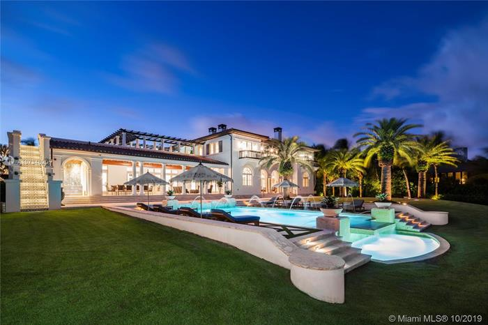 This Majestic Tuscan-Inspired Villa, Designed By Rafael Portuondo With The Finest Finishes And Smart Technology, Is Situated On 62, 000 Sf In Prestigious Gables Estates. It Boasts 200 Ft Directly On Biscayne Bay, Plus 200 Ft On A Protected Inlet With Private Dock And Boatlift. An Entry Foyer With Marble Staircase Leads To Formal Living Room And Adjacent Office. Gourmet Kitchen Comes With Two Marble Islands. Family Room Has Wet Bar In Macassar Wood, And Wine Room Has 2, 200 Bottle Capacity. Grand Master Suite On Second Floor Has Morning Bar, Two Custom Master Closets, And Sophisticated Master Bathroom. Covered Patio Includes A Summer Kitchen And Sitting Area Overlooking An Infinity Pool With A Waterfall. Truly A Unique Property In A Spectacular Setting, With Wonderful Breezes Off The Bay.