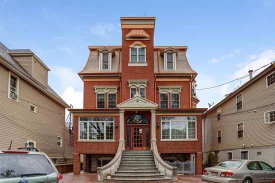 Did you ever dream of living in a classic Victorian mansion? This dream can be your reality in this unique 2 bedroom / 2 bath condominium where old-world grace and elegance meet modern-day amenities. This Queen Anne Victorian is one of the most Instagrammed houses in Jersey City Heights. The unit is a spacious 1053 sq. ft. complete with deeded parking, located on one of the neighborhood's most desirable tree-lined streets. Just blocks from many wonderful Heights locations, including the Ogden's End Community Garden and dog run, as well as the desirable Riverview Arts Districthome to artists, galleries, restaurants, cafes, and nightlife. Close to several parks including Riverview Park (and its Sunday farmer's market), Janet Moore Park, Pershing Field, and the Reservoir. A great location for NYC-bound commuters, it's only blocks from the 100 Steps down to the 2nd Street Light Rail, with easy access to bus transportation (NYC/Hoboken/JSQ) at the corner, plus a ~10 minute bike ride to both Hoboken and JSQ transportation hubs.