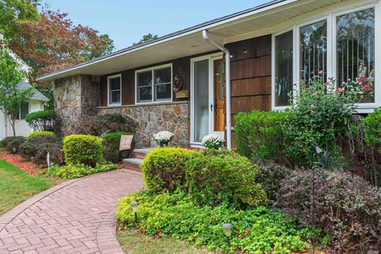Meticulously maintained 4bd/2.5ba ranch South of Montauk in East Islip on .40acre. Approx 2300sqft. Full bsmt w/high ceilings & OSE, CAC, Double sided fireplace between LR and Den, new cast iron gas boiler, Anderson windows and Alarm.
