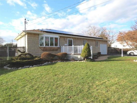 Immaculate 3 Bdrm/2.5 Bth Maintenance-Free Ranch offers Hardwood Floors, CAC (6yrs), Anderson Windows, New Deck & Sliders off Dining Room, Mstr Bdrm w/Full Bath & 2 Walk In Closet, Recent Roof (5 yrs) w/ Solar Panels(Leased), Frnt Deck, Paver Walkway, Fenced, IG Sprinklers, Ring Security System- Close to all shopping & transportation -