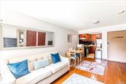 Great condition 2 bedrms 2 baths with big terrace condo at prime location of Flushing. Younger, elevator and pet friendly building. Great layout, approx 813 SQFT living space + 937 SQFT terrace with low property tax $141 a year. Common charge is about $247. Walk to subway and LIRR station and multi lines bus stops. Closed to park, supermarkets, stores and school etc. 25 schools district, P.S. 214 and JHS 185. Hot and convenience location.
