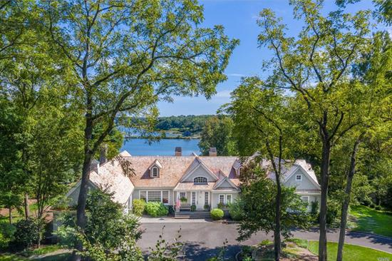 Phenomenal 140' Waterfront, Shingle-Style Residence Situated On 2+ Professionally Landscaped Acres.This 2003 Nantucket Build Boasts 10'Ceilings, Custom Millwork Including Barrel & Coffered Ceiling Detail & Brazilian Cherry Floors. Spacious Sunlit Principal Rooms, Formal Dining With Incredible Waterview, Gourmet Kitchen, 5 En Suite Bdrms On The Main Level With 2 Additional En Suite Guest Rooms On Lower Level With Direct Access To Pool & Patio. CSH #2, Lloyd Harbor Village Beach, Mooring, Camp & Tennis