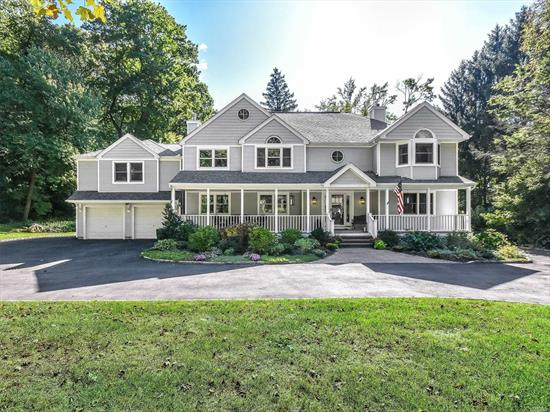 Beautiful 5 Bedroom, 2.5 Bath Center Hall Colonial with True Smart Home Technology Is A Dream ComeTrue. Covered Front Porch, Open Floor Plan with Gourmet Kitchen & High End Appliances. Large Formal Dining Room & Den. Spacious Media Room w/ Surround Sound & Drop Down Screen. Master en Suite w/gas Fpl, Spa Bath & Radiant Floor. Four Additional Bedrms and Full Bath. 9' Ceilings in The Attic, Large Basement with Optional Office Area. Expansive Trek Deck, Brick Patio, 2 Car Garage, Huge Yard. See List