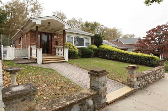 Detached one family on 50x100 lot. The house features 4 br, 3 bathrooms, eat-in kitchen, spacious living room. finished basement and garage and a HUGE BACKYARD.