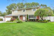 Sprawling, Mid-Block, Center Hall Colonial With Lush Curb Appeal, 2 Coat Clos, Fireplce., Wood Flrs., Radiant Heat in Livng.Rm.and Kitch., Custm.Built-ins, Custom Molding, Speakers Wired Inside and Out, Sunrm off of Fmly.Rm., 5 Yr.Old Custm., White Kitch., Maple Cabs., SS, Viking Appliances, Granite, Alarm, UGS, Vinyl, Heated, Salt Water Pool With Plenty of Additional Property in Yard, New Liner, New Bath, Newer Windows, Brick, Patio, Siding, Fabulous Outdoor and Indoor Storage, Xtra Lge.Bdrms, Mstr.Suite w/Walk-In Clos.
