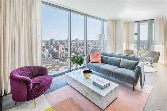 One Of The Most Desirable Furnished 2 Beds/ 1.5 Baths Corner Units In Grand One. Northwest Exposure With Manhattan View. Unit Features: 9' Ceiling, Oversized Soundproof Windows, Large Kitchen, With Stainless Steel Appliances (D/W, Microwave? Range Hood Vented Outside The Building), Granite Counter Tops, Washer/Dryer In The Unit, Huge Walking Closets Space, North Exposure. All Utilities Are Included Except Electric