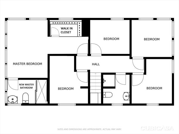 Proposed 2nd floor plan