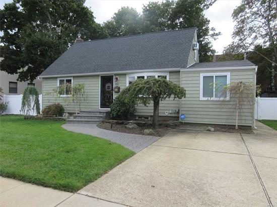 Beautiful Expanded cape with everything updated or new. Some of the items include kitchen, bath, floors, heating, siding, roof and more. Huge kitchen opens to the dining room and living room, with sliders to the rear yard. Newly finished basement. Just minutes to the Southern Parkway and Massapequa Train station. Located in desirable Plainedge school district