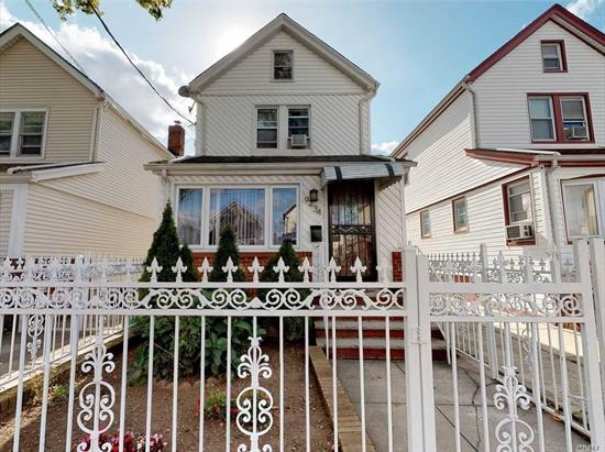 Lovely Detached 3 Bedroom 2 Bath Colonial situated in the Heart of Queens Village. Fenced in yard, 1 car Garage, CAC 1st floor, full basement with outside entrance, close to all transportation and stores. Great home - Must See 3D interactive virtual tour for a closer look!