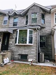 1-Family house in excellent condition, renovated 2 years ago with top quality material, including flooring, roof, heater boiler. Finished basement, indoor porch, detached gagrage. Near Northern Blvd, transpotation.