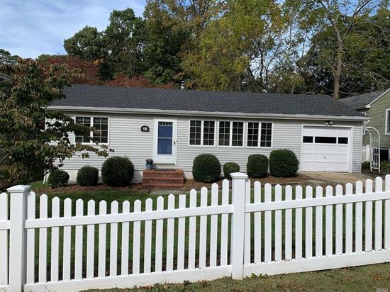 Bellecrest Area - Nice home located on a quiet residential street in Northport/East Northport school district. Very low taxes, oversized deck overlooking large fenced in backyard, open concept, 2 bedrooms, updated roof and electric, workbench in the basement. Convenient to LIRR, beaches and shopping. Call to see this home today!