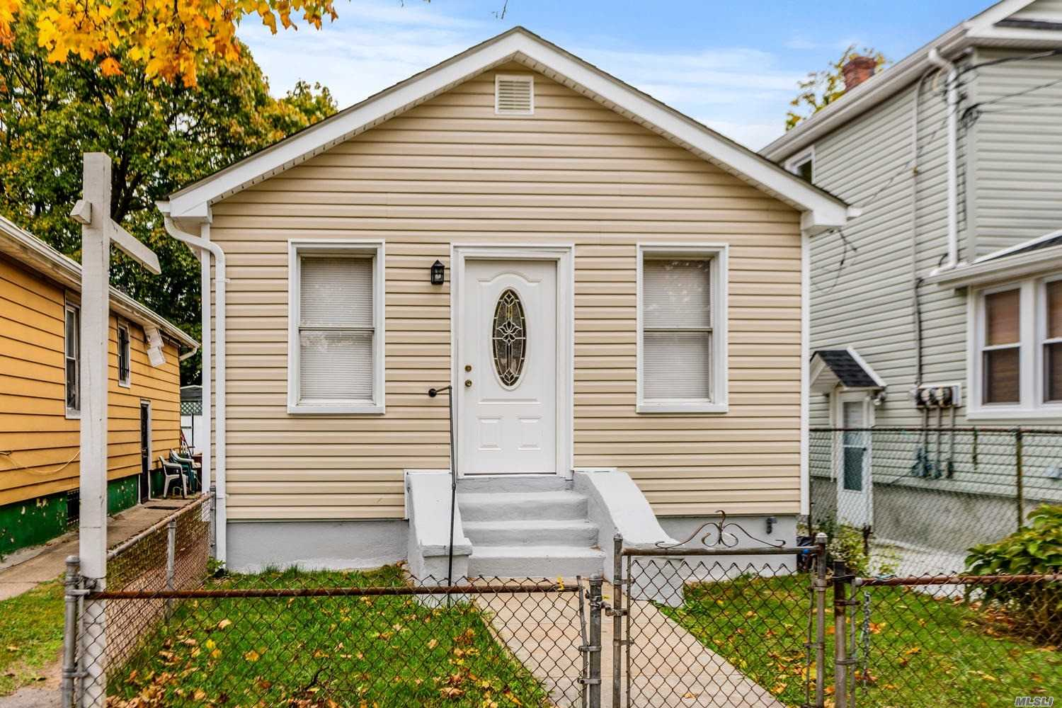 Great 1 family House , 3 bedrooms, Living room Kitchen and full bathroom. Full finished basement , share driveway,  Completely renovated new kitchen, bathroom