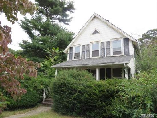 Located Steps Away From The Water, This Charming Colonial Features 3 Bedrooms, 1 Full Bath, Formal Living Room, Formal Dining Room & A Detached 2 Car Garage. Tons Of Potential With This Fannie Mae Homepath Property!