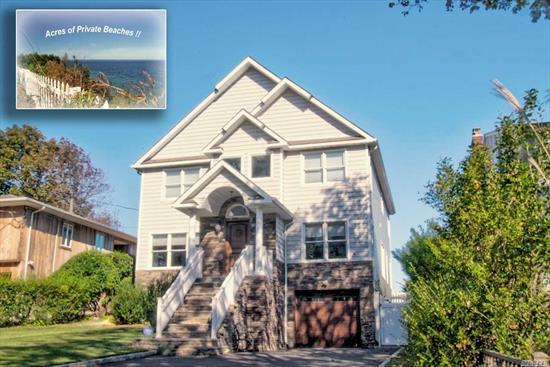 This home was completely rebuilt in 2015.Quailty Built 2x6 Constructions w/top of the line Lefroy Brooks fixtures & Gold leaf lighting.Gorgeous huge Granite EIK w/very open floor plan & magnificent waterviews.Master Suite w/stunning waterviews, Solid cliff & bulkheading & just steps to acres of private beach where you can enjoy fishing/kayaking or just a lazy day at the beach.Home features:top of the line appliances (sub-zero Frig & Freezer), 200 amp elec, 2 car tandem garage, 4 yr Burner & CAC