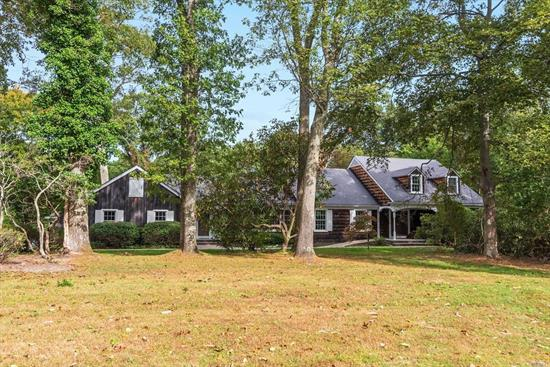 Come see this sprawling 6-bedroom Old Field farm ranch located on a cul-de-sac. Enjoy sunsets, kayaking and SUP on your private sound front beach. This home features a fully renovated chefs' kitchen, inground pool and main level master bedroom. Don't miss out on this opportunity to live a life of secluded luxury.