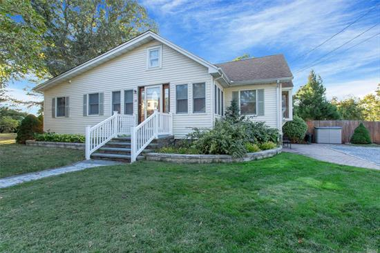 Great 3 br 2 full bath ranch Eik with granite counter tops and SS appliances large den with radiant heat floors formal living room with fireplace Hardwood floors 550 gallon fiberglass oil tank roof 10 yrs old boiler 14 yrs old low taxes!