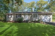 Lovely maintained ranch on a quiet block in Port Jeff Sta. Good location , close to stores and main roads. Three bedrooms and 2 full baths and a full unfinished basement. Make this sweet ranch your own!