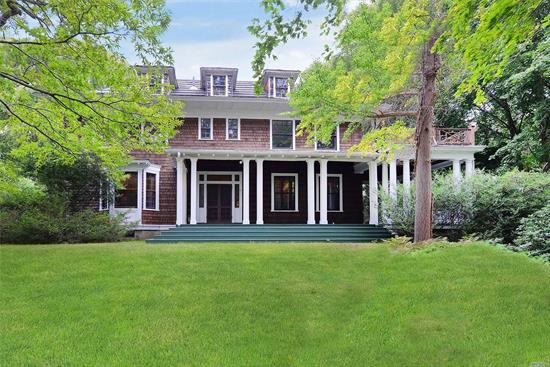 Classic & Gracious 6500 Sq.Ft. Home By Renowned Architect Henry K Murphy on 27.63 Acres In Fort Salonga Built in 1907 With Stunning Craftsmanship & Original Details Throughout. Conveniently Located 1 Hour From NYC. Minutes To Long Island Sound, Northport Village, Dining, Shopping, Beaches, Golf, LIRR & Parkways. Ultimate Privacy and Convenience. A Rare Opportunity For Developers or Buyer Seeking Ultimate Privacy or Family Compound. Currently 2 Separate Tax Lots With Further Subdivision Possible