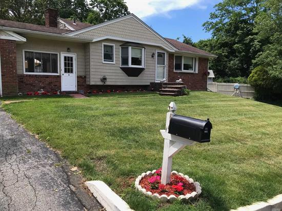 Beautifully Maintained 3 Bedroom Ranch W/ Wood Floors, EIK, Updated Appliances, Anderson Windows, CAC, Full Basement, Garage. Located Near Huntington Village And LIRR. Move In Ready!