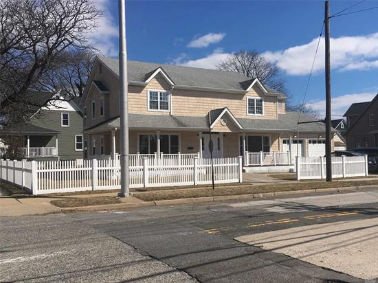 JUST REDUCED. OWNER IS VERY MOTIVATED TO SELL.  RENOVATED, HUGE One Family (2800 sq ft). Large LR, DR, Den, 5 large Bedrooms. Crawl Basement. 2 car attached Garage + large driveway. Commercial overlay in Business B zonning. Corner Atlantic & Wesend Ave. Conventional Mortgage only as low as 5% down. New Nassau County assessed taxe is tentative for 20/21.