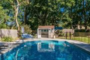 Your North Fork escape in Jamesport on coveted Peconic Bay Blvd! Bright & sunny ranch w/heated inground pool. Meticulously landscaped, treed private yard. Open floorplan LR/DR/Kitchen, 3 BRs, 2Bath (inc ensuite master). Enjoy your coffee or evening glass of wine in attached sunroom or deck. Bonus finished basement office/rec room/media room. New pool/pool house, irrigation, lighting, skylight. Minutes from beaches, restaurants, farm stands & wineries. Enjoy North Fork living at its best!