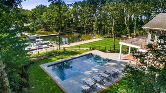 Newly Updated, Contemporary Home. 4 Bedrooms, 4 Plus Baths, Great Room, Fireplace, Dock, In-Ground Pool And Tennis Court! What Better Way To Experience The North Fork Than To Live In Paradise Point! Also available for seasonal rental refert to MLS number 3172769.