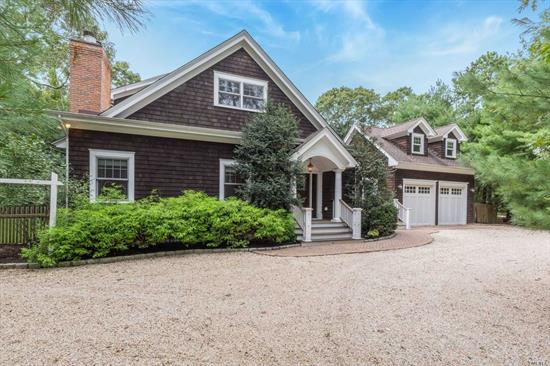 A treasure to be found, 45 Old Depot Road, Quogue is a custom, turn-key Post Modern with immaculate attention to detail, expansive entertaining spaces and flawless design characteristics. The grounds encompass a free-form gunite pool & brick patio for summer BBQ's and relaxation.