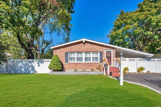 Welcome Home To This Updated & Open 3 Bedroom, 1.5 Bath Ranch In The College Section Of Smithtown. Pride Of Ownership Includes Vaulted Ceilings, Hardwood Floors, CAC, Gas Heating & Cooking, Full Finished Basement, In-ground Sprinklers, Oversized Driveway, New Cesspool & More! Close To Parks, Schools & Shopping. Smithtown Schools. Taxes W/Star $8, 999.