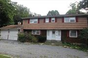Fixer Upper Opportunity in desirable Strongs Neck beachside community with deeded private Bayview Beach & mooring rights, Three Village SD. 4 bedrm 2 1/2 bath Colonial on .70 flat acres, 2 car gar, fpl. Enclosed Porch, big rooms, huge Dining Rm, 3 houses to boat ramp, beach block. Master bath. Hardwd floors 1st & 2nd floor. Full bsmt/hi ceiling. 3 zone Weil McLain cast iron boiler/2005. Dual solar HW heater. Attic Fan. Refrigerator/2019. 2 pull down attic stairs. Bring boat, kayak & hammer!