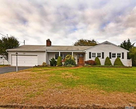 Ranch Style Home. This Home Features 3 Bedrooms, 2 Full Baths, Dining Room, Eat In Kitchen & 2 Car Garage. Centrally Located To All. Don't Miss This Opportunity!