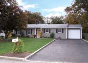 MOVE IN READY 4 BD/2 BTH LARGE RANCH - LR /FDR / EIK WITH SS APPL & GRANITE COUNTER TOP/MASTER WITH FULL BATH. 3 ADD'L BDRS / ADD'L FULL BATH / SEP LAUNDRY ROOM/ EXTRA ROOM FOR DEN OR OFFICE/GREAT BACKYARD FOR ENTERTAINING WITH IGP SALT WATER (NEWER LINER) INCLUDING REMOVABLE SAFETY FENCE & NEW LOOP LOCK COVER/LARGE DECK / NEW ROOF /NEW SIDING AND NEW AUTOMATIC GARAGE DOOR/ WON'T LAST! A MUST SEE!