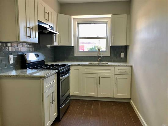 renovated two bedrooms apartment on the first floor of a two family house with new kitchen and new bath, (SMALL L/R) near waterfront MacNeil Park, Q25 to Flushing, must see! Pet friendly (NO cat, ONLY one small dog allowed, under 15 lbs, breed has to be approved by the landlord)