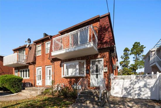 This beautiful brick 2-family house is located in a nice & quiet neighborhood in Little Neck. It is situated on a 3, 258 SF lot. Each unit features with 3 bedrooms, 1 bathroom, living room and kitchen, separate entrance. Private driveway, near all transportation, Shopping Mall, Restaurants. School District #26. It includes A+ rated elementary, middle schools. **All info deemed reliable but is NOT guaranteed accurate.
