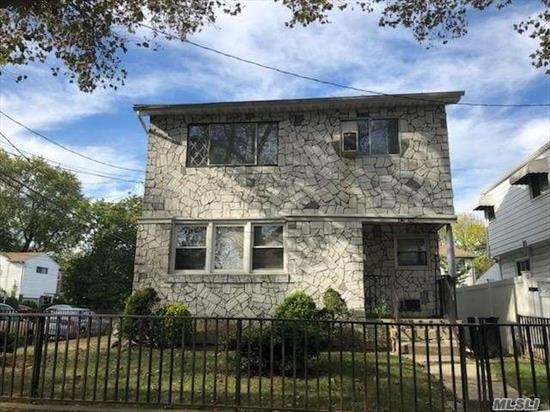 Spacious and bright 2 bedroom, Corner brick house Plenty of light, Freshly painted, Wooden floors,  Good closet space , New refrigerator., Near Q 27, School district 26.