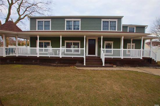 Legal two family with M/D permits. This colonial in Massapequa schools has rights to Biltmore Beach Club and is in the Preferred flood Zone X. Large backyard with privacy hedges, Ductless Central Air. Indirect tankless Hw Boiler W/ Radiant Heat On 1st Floor. Main living area has an open floor concept. All bedrooms are spacious. 3 br's on main level and 2 Br's on second level additional office & laundry room. Move right in!