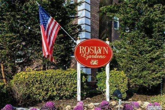 Beautiful 2 BR 2nd Fl Unit in Roslyn Gardens. Private Entrance, Lovely LivRm/DR Combo. Laundry Rm in Complex. Close to LIRR, Shopping and Restaurants. The Star Exemption is $93.67.