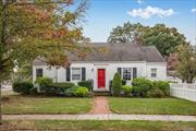 Move right into this beautiful cape with hardwood floors, renovated kitchen and bathroom, large formal dining room and spacious outdoor patio with a fenced in yard and garage.