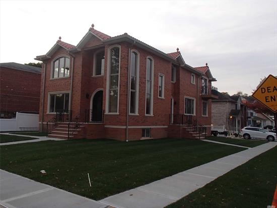 New Construction 2 family Brick 4 bedrooms 3 Baths over 3 bedrooms 2 baths . EACH APARTMENT HAS ITS OWN BASEMENT .60 x 100 lot. North Apt. Approx. 1950 Sq. Ft. West Apartment Approx. 1650 Sq. Ft.