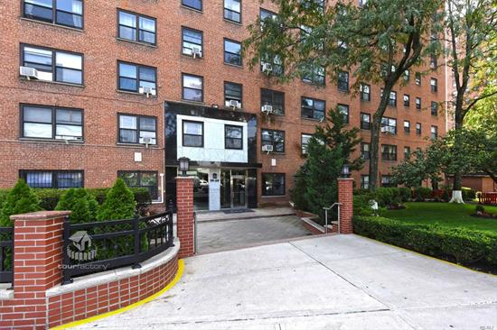 Beautifully Renovated Oversized 2 Bedroom Unit at Anita Terrace!  Featuring Abundance of Natural Lighting, Solid Hardwood floors throughout, Stainless Steel Appliances, Granite Countertop, and Custom Cabinetry. Amenities include 24 Hour Security& Doorman, In-building Gym, Laundry, Playground and Outdoor Garden. Very Convenient to all Subways, Buses, and Shopping!