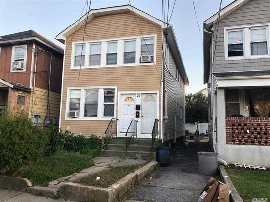 Legal 2 family- 3 over 3. upstairs apartment needs a lot of work and is vacant, downstairs apartment is currently occupied.