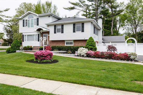 Beautifully Renovated Home In The Sought After North Syosset Area Of Flower Hill With Easy Access To Town, Shops and LIRR. 4 Bedrooms 2.5 Baths. European Styled Eat In Kitchen With SS Appliances. Oversized Master Suite With Home Office. Extra Large Sun Room Overlooking Landscaped Yard. Generator. Expansive Security System With External Cameras.