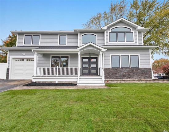 NEWLY CONSTRUCTED SPECTACULAR 3500 SQ. FT. CENTER HALL COLONIAL WITH SUPERIOR DESIGN & CRAFTMANSHIP. FEATURES EIK W/ QUARTZ, SS APPLIANCES, BUTLERS PANTRY W/ WINE FRIDGE, FAMILY RM W/ GAS FPL & STONE MANTLE, BEDRM W/ FBTH & MUDROOM W/ BUILTINS. 2ND FL: MSTR SUITE W/ VAULTED CEILINGS, JACUZZI & STNDING SHWR, LG LAUDRY RM 3 BDRMS, 2 FBTHS FULL FIN BSMNT. CROWN/BASE MOLDINGS & SHADOWBOXING THROUGHOUT. TOO MUCH TO MENTION! BUYER TO PAY TRANSFER TAX. A MUST SEE!!,