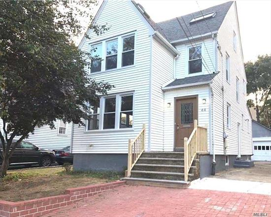 BRAND NEW FULLY RENOVATED house with new floors, new windows new ceilings, appliances & fixtures.