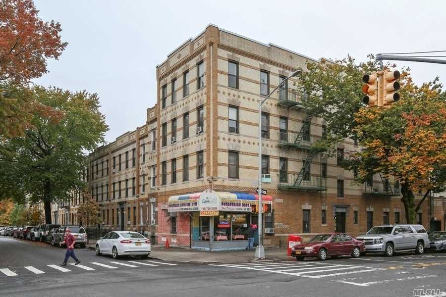 This mixed use property has 12 apts and a store which is currently a restaurant, is sitting in a corner lot of 42nd St and 34th Ave. Building features three 2- Bdrm apts, eight 1-Bdrm apts, 1 studio, and a store which is currently a restaurant. The building has an att garage, which has a $375 rental per month. 3 units have been renovated. 9 of the other units are in above average condition. The roof has been completely replaced and the building has had brick pointing done in September 2019.